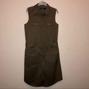 Ralph Lauren Military Green button down dress